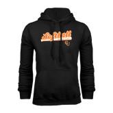 Black Fleece Hoodie-Softball Script w/ Bat Design