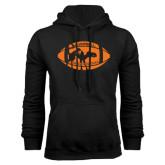 Black Fleece Hoodie-Black Cat Camel w/ Football Halloween