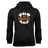 Black Fleece Hoodie-Campbell Football Vampire Teeth Halloween