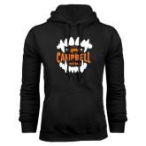 Black Fleece Hoodie-Campbell Football Vampire Teeth Halloween