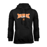 Black Fleece Hoodie-Baseball Crossed Bats Design
