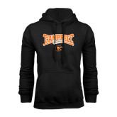 Black Fleece Hoodie-Baseball Crossed Bats Design