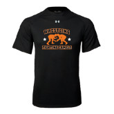 Under Armour Black Tech Tee-Wrestling Design