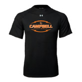 Under Armour Black Tech Tee-Lighting Football Ball Design