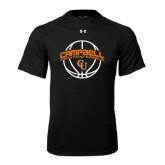 Under Armour Black Tech Tee-Basketball Ball Design