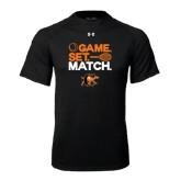 Under Armour Black Tech Tee-Game Set Match Tennis Design