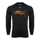 Under Armour Black Long Sleeve Tech Tee-Track and Field Runner Design
