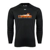Under Armour Black Long Sleeve Tech Tee-Swimming w/ Swimmer Design