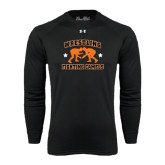 Under Armour Black Long Sleeve Tech Tee-Wrestling Design