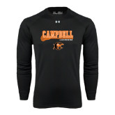 Under Armour Black Long Sleeve Tech Tee-Lacrosse Stick Design