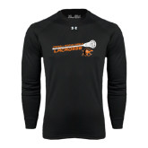 Under Armour Black Long Sleeve Tech Tee-Lacrosse Stick Rise Design