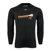 Under Armour Black Long Sleeve Tech Tee-Lacrosse Stick Rise Design