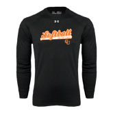 Under Armour Black Long Sleeve Tech Tee-Softball Script w/ Bat Design