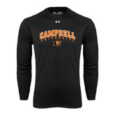Under Armour Black Long Sleeve Tech Tee-Arched Campbell University