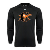 Under Armour Black Long Sleeve Tech Tee-Campbell Official Logo