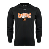 Under Armour Black Long Sleeve Tech Tee-Baseball Crossed Bats Design