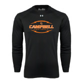 Under Armour Black Long Sleeve Tech Tee-Lighting Football Ball Design