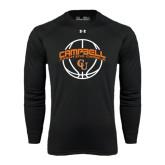 Under Armour Black Long Sleeve Tech Tee-Basketball Ball Design