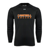 Under Armour Black Long Sleeve Tech Tee-Soccer Design