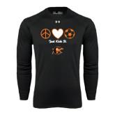 Under Armour Black Long Sleeve Tech Tee-Just Kick It Soccer Design