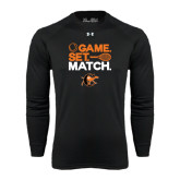 Under Armour Black Long Sleeve Tech Tee-Game Set Match Tennis Design