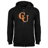 Black Fleece Full Zip Hoodie-CU