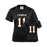 Ladies Black Replica Football Jersey-#11
