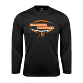 Performance Black Longsleeve Shirt-Inside Football Ball Design