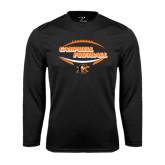Syntrel Performance Black Longsleeve Shirt-Inside Football Ball Design