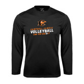 Performance Black Longsleeve Shirt-Can You Dig It - Volleyball Design