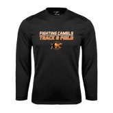 Performance Black Longsleeve Shirt-Track and Field Design