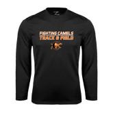 Syntrel Performance Black Longsleeve Shirt-Track and Field Design