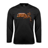 Performance Black Longsleeve Shirt-Track and Field Runner Design