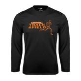 Syntrel Performance Black Longsleeve Shirt-Track and Field Runner Design