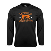 Performance Black Longsleeve Shirt-Wrestling Design