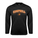 Performance Black Longsleeve Shirt-Arched Campbell University