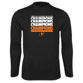 Performance Black Longsleeve Shirt-2017 Southern Conference Wrestling