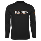 Syntrel Performance Black Longsleeve Shirt-2017 Southern Conference Wrestling