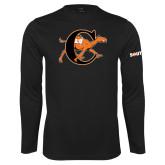 Performance Black Longsleeve Shirt-Campbell Official Logo