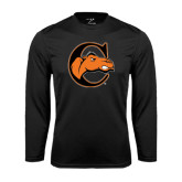 Syntrel Performance Black Longsleeve Shirt-C w/ Camel Head