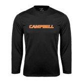 Performance Black Longsleeve Shirt-Campbell Flat