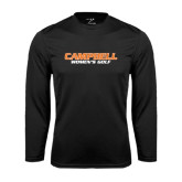 Performance Black Longsleeve Shirt-Womens Golf