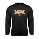 Performance Black Longsleeve Shirt-Baseball Crossed Bats Design