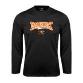 Syntrel Performance Black Longsleeve Shirt-Baseball Crossed Bats Design