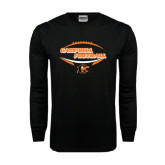 Black Long Sleeve TShirt-Inside Football Ball Design