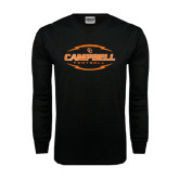 Black Long Sleeve TShirt-Lighting Football Ball Design