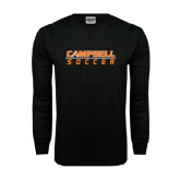 Black Long Sleeve TShirt-Soccer Design