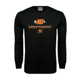 Black Long Sleeve TShirt-Cross Country Design