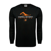 Black Long Sleeve TShirt-Swimming Design