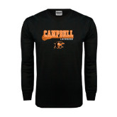 Black Long Sleeve TShirt-Lacrosse Stick Design